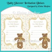 Baby Shower Invitation Unisex