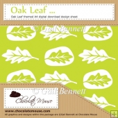 Oak Leaf - Green1 - Oak Leaf themed A4 Digital Design Sheet
