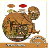 Autumn Plate Card