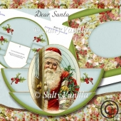 Rocker Card Dear Santa Vintage