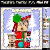 Yorkshire Terrier Fun, Christmas Mini Kit