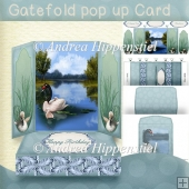 Gatefold pop up Swan 2