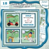 GOLF 7.5 Quick Card Verse or Ages Decoupage & Insert Mini Kit