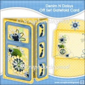 Denim N Daisys Off Set Gatefold Card