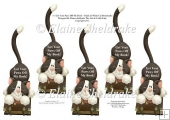 Black & White Cat Bookmarks - Get Your Paws Off My Book