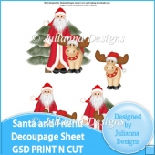GSD Print n Cut Santa and Friend Decoupage Cutting File
