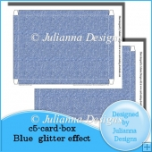 C5 Card Box Blue Glitter Effect
