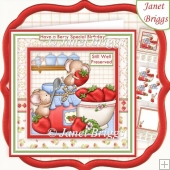 STRAWBERRY TEA 8x8 Jam Making Decoupage & Insert Kit