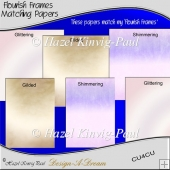 Flourish Frames Matching Papers