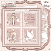 CHRISTENING BAPTISM Neutral Child or adult 7.5 Quick Layer Card