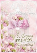 Perfect Pink Birthday Wishes Backing Background Paper
