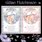 2 New Baby Boy & Girl Card Fronts