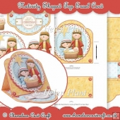 Nativity Shaped Top Easel Card