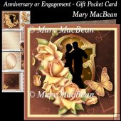 Anniversary or Engagement - Gift Pocket Card