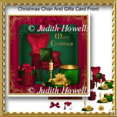 Christmas Chair And Gifts Card Front