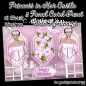 Princess in Her Castle 3 Panel Card Front