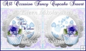 All Occasion Fancy Cupcake Insert/Topper