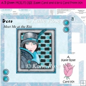 Easel and Super Square Deco Meet Me at the Ritz 5 Sheet Card Kit
