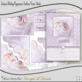 Diamond Wedding/Engagement Scalloped Corner Stacker