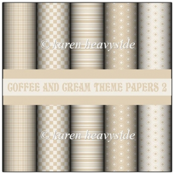 Coffe And Cream Theme Papers 2