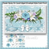 Flower Spray On Lace Edged Envelope Style Card Front