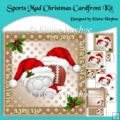 Sports Mad Christmas 8 inch Cardfront Kit