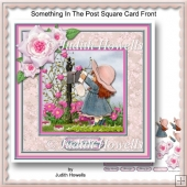 Something In The Post Square Card Front