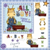 All Boy - 5x 5 Card Front & Decoupage