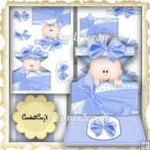 Baby boy blue easel card set