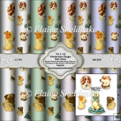 Victorian Dogs Set One 12 x 12 Backing Papers For Papercrafts