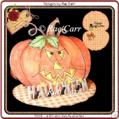 373 Spooky Halloween Easel Card *Multiple MACHINE Formats*