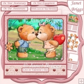 BEARY SPECIAL KISS 7.5 Decoupage & Insert Kit