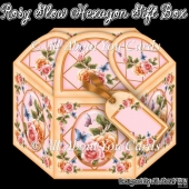 Rosy Glow Hexagon Gift Box