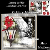 Lighting the Way Decoupage Card Front