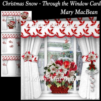 Christmas Snow - Through the Window Card