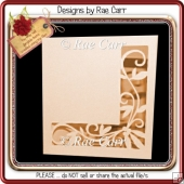 287 Pretty Cut Out Card *Multiple MACHINE Formats*