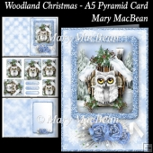 Woodland Christmas - A5 Pyramid Card