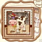 AN UDDER YEAR OLDER 8x8 Humorous Decoupage & Insert Kit