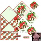 Bells With Red Ponsettia Spring Card