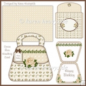 Cream Rose Handbag Card