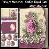 Vintage Memories - Scallop Edged Card