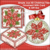 Simple Joys 3D Christmas Tree Ornament With Card & Gift Box