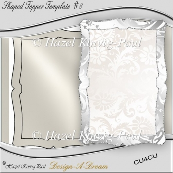 Shaped Topper Template #8