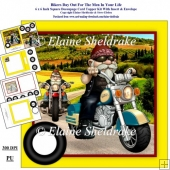 Bikers Day Out For The Men In Your Life 6 x 6 Card Kit