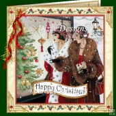 Christmas Shopping Art Deco Card