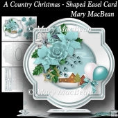 A Country Christmas - Shaped Easel Card