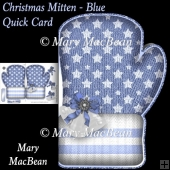 Christmas Mitten, Blue - Quick Card