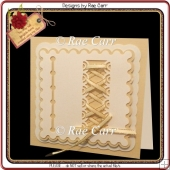 609 Lace It Up Card & Topper *Multiple MACHINE Formats*