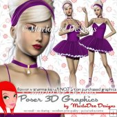 Pretty Ballerina Girl Poser Graphics Set 3
