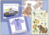 Father's Day Card Toppers/Backing Papers and Gift Tags